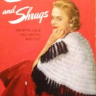 Stoles Shrugs Shawls Vintage Crochet Knitting Pattern Star Book 103
