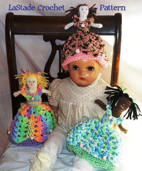 Little Girl's Princess Cinderella Doll Hat Crochet Pattern