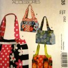 Sewing Pattern Large Bags Purses Carry-Alls Totes McCall's 6335 Fashion Accessories