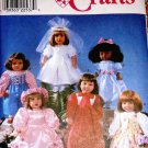 "Simplicity Crafts 8534 18"" Doll Clothes Sewing Pattern Communion Dress, Flower Girl Dress"