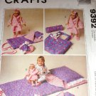 "Accessories for Child and 18"" doll Slumber Party UNCUT Sewing Pattern McCall's 9392"