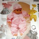 Doll Clothes UNCUT Sewing Pattern McCall's 8554 for dolls small, med. large