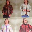 Misses'  or Misses' Petite Patchwork Jacket Butterick B4056 Size L, XL