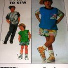 Simplicity 9182 Child's Shorts Pants Top Sewing Pattern Size small medium large