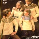 Heather Fair Isle Sweaters Knitting Patterns Men, Women, Children sizes Brunswick