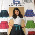 Butterick 4593 Little Girls Skirts Sewing Pattern Size 12 14 16