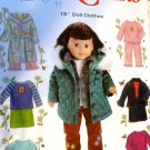 18 Inch Doll Clothes UNCUT Sewing Pattern Simplicity Crafts 5733