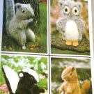 Owl Squirrel Skunk Beaver toys Simplicity 8782 Vintage Stuffed Animal Sewing Pattern