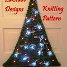 Christmas Tree Lighted Door Decoration Knitting Pattern