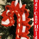 Beaded Candy Cane Holder Christmas Decoration PDF Crochet Instructions Pattern LaStade Designs
