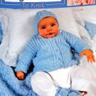 Sweet Layettes to Knit Leisure Arts 3145 Baby Outfits Knitting Pattern
