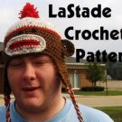 Sock Monkey Hat Crochet Instructions Pattern Ear Flaps Teen Adult size LaStade-Designs PDF Pattern