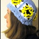 PDF Crochet Pattern Pretty Petals Hat and Scarf Set by LaStade Designs