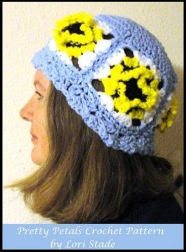PDF Crochet Pattern Pretty Petals Hat and Scarf Set by LaStade Designs