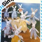 "Simplicity 6312 Easter Bunny Dolls 20"" and 14"" Toys & Clothes Sewing Pattern"