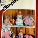 Baby Simplicity 5615 Doll Clothes UNCUT Sewing Pattern  For 17 - 18 inch dolls