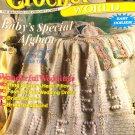 Crochet World June 1999 Baby's Special Afghan, Ring Bearer Pillow, Bridal Gloves