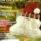 Crochet World December 2011 Holiday Countdown scarf, blankie, leg warmers
