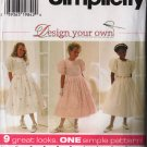 Girl's Flower Girl Jr. Bridesmaid Simplicity Sewing Pattern 7487 size 7, 8, 10