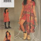 Girl's Tunic, Top, Shorts, Legging Vogue for Me Sewing Pattern Sizes 5-6-6x