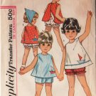 Vintage Toddler's Top, Shorts and panties summer wear Simplicity Sewing Pattern 5519 size 2