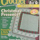 Crochet World Magazine December 2001 Christmas Patterns Pineapple Table Topper