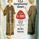 "Ceremonial Gown Campfire Girls McCall's L-110 Sewing Pattern Size 14-16 Bust 34"" - 36"""