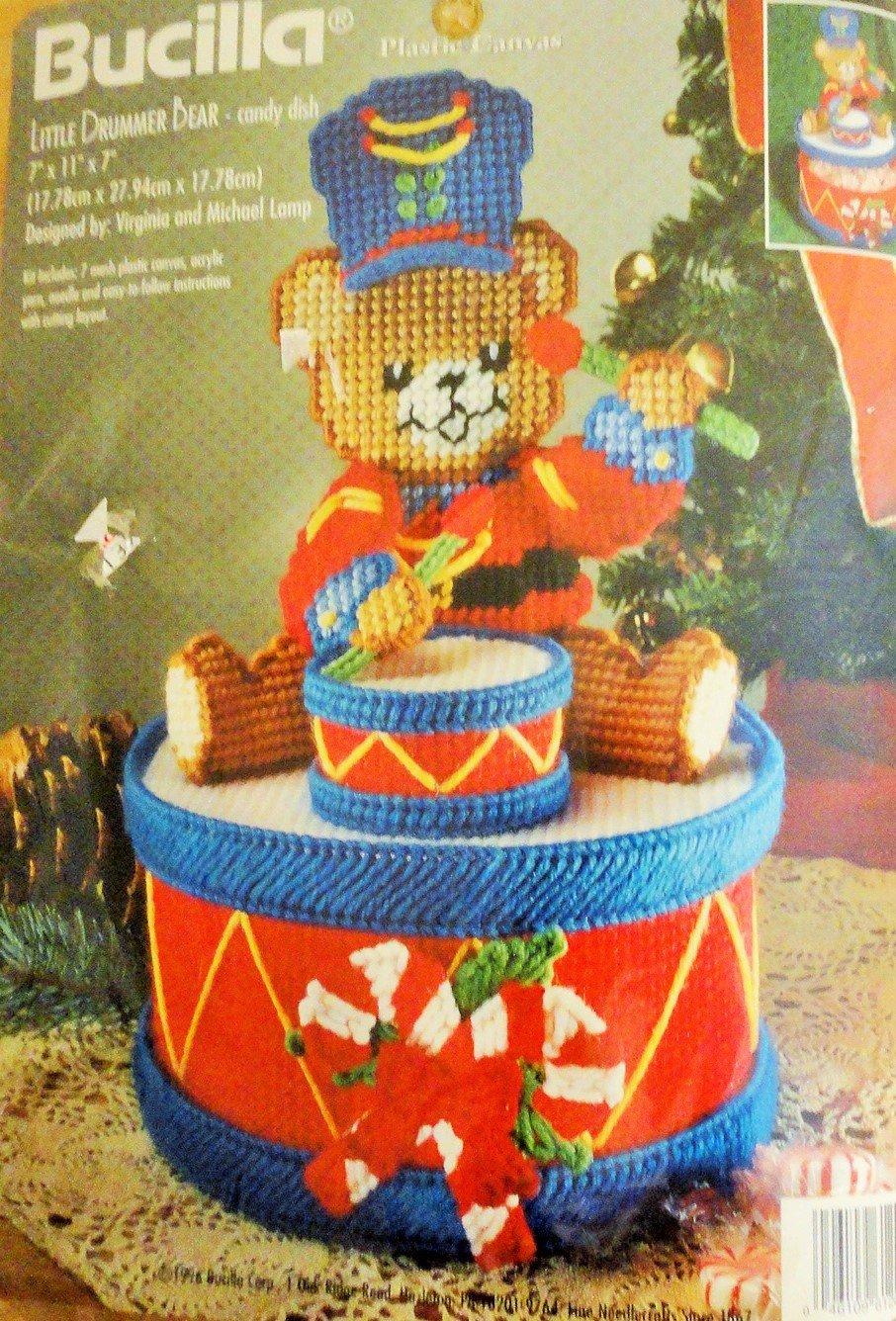 Bucilla Little Drummer Bear Candy Dish Plastic Canvas Kit 61209