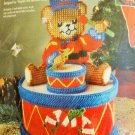 Bucilla Little Drummer Bear Candy Dish Plastic Canvas Kit 61209