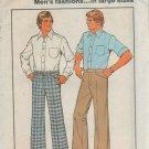 "Simplicity 7941 Men's Pants 70's Style Vintage Sewing Pattern waist sizes 39"" - 46"""