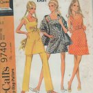 McCall's 9740 Mini Dress Pants Stole Sewing Patterns  Wide Straps Camisole Style  Size 14 Bust 36