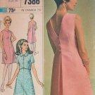 "Vintage V-back mini Dress and Jacket Simplicity 7386 Sewing Pattern Size 14, bust 34"""