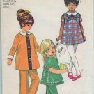 Simplicity 8990 Vintage Girls  Tunic and Pants and Peter Pan Collar Dress Sewing Pattern Size 6