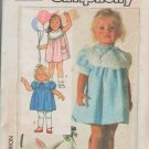 Simplicity 7354 Toddler Child Girl Dress Sewing Pattern Size 2,3,4
