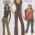 Vogue 8157 Below Waist Pants in two lengths sewing pattern sizes 14 16 18 20