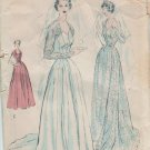 Princess Wedding Gown Sewing Pattern Butterick 4810 vintage from 1950's Size 12 bust 30""