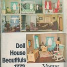 Doll House Vogue 1772 Sewing Pattern sofa, chair and ottoman