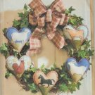 Butterick  5861  Craft Sewing Pattern Shirley Stevenson Wreath Heart Felt Heritage