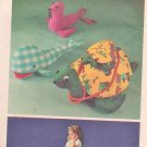 Giant Sea Turtle Toy Simplicity 5331 Sewing Pattern Whale Seal