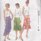 Kwik - Sew 3109 Misses' Skirt ruffles flare Sewing Pattern Size XS - XL