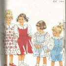New Look 6648 Child's Pinafore, blouse, dungarees shorts sewing pattern size 3 to 8