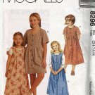 McCall's 8296 Sewing Pattern  Girls Dress with Front Pleats size 7 8 10