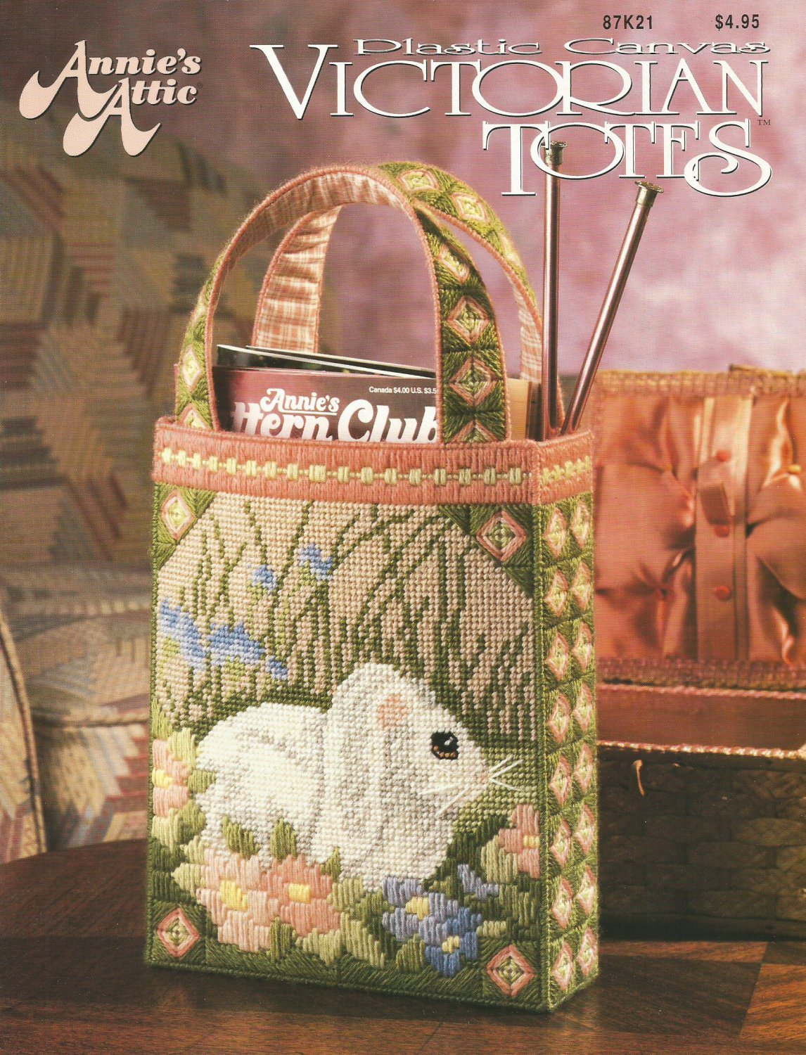 Annie S Culinary Creations Part 2: Annie's Attic Victorian Totes, Plastic Canvas Pattern
