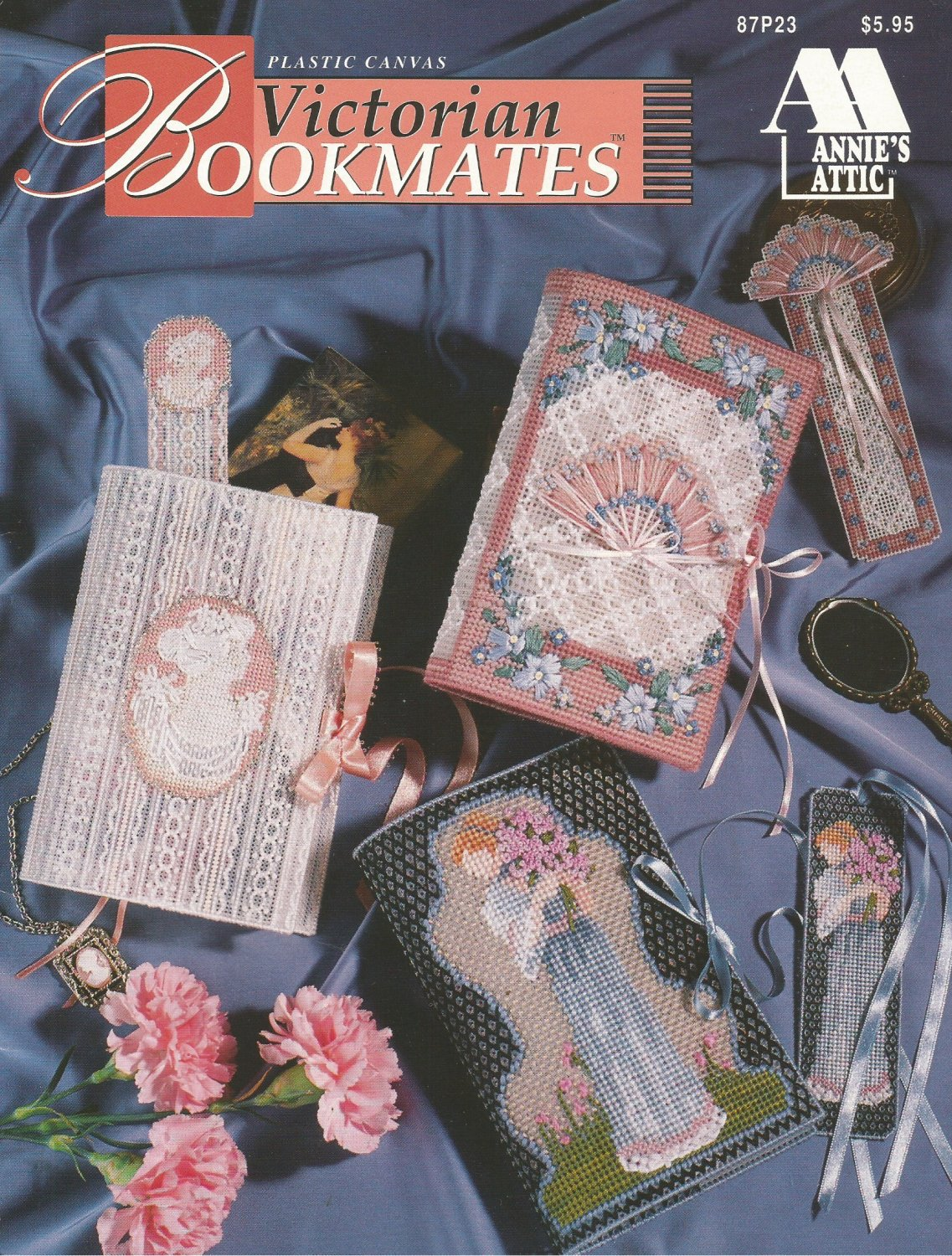 Plastic Canvas Book Cover Patterns ~ Victorian bookmates in plastic canvas pattern by annie s