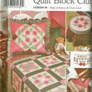 Simplicity 9312 Quilt Block Club Rose of Sharon & Churn Dash Stool Cover Bed Caddy Quilt
