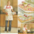 Simplicity 2691 APRON, Table Runner, Place Mats SEWING PATTERN Uncut