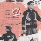 Mary Maxim 414 Men's 4 Ply Cardigan Angler's Pride Graph Style Knitting Pattern