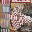 The Needlecraft Shop 931509 Traditional Mile-a-Minute Afghans Crochet 6 Designs