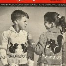 Bouquet Polar 29 Child's Quicknit Cardigan Squirrel Graph Style Knitting Pattern sizes 2 to 8
