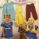 Annie's Attic  87W41 Little Playmates Lifesize Doll and toddler size 2, 3, 4 clothes Crochet Pattern
